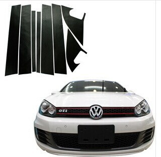 TZ-38 car styling pillar carbon fiber sticker case for Volkswagen vw Golf 6 mk6 car accessories