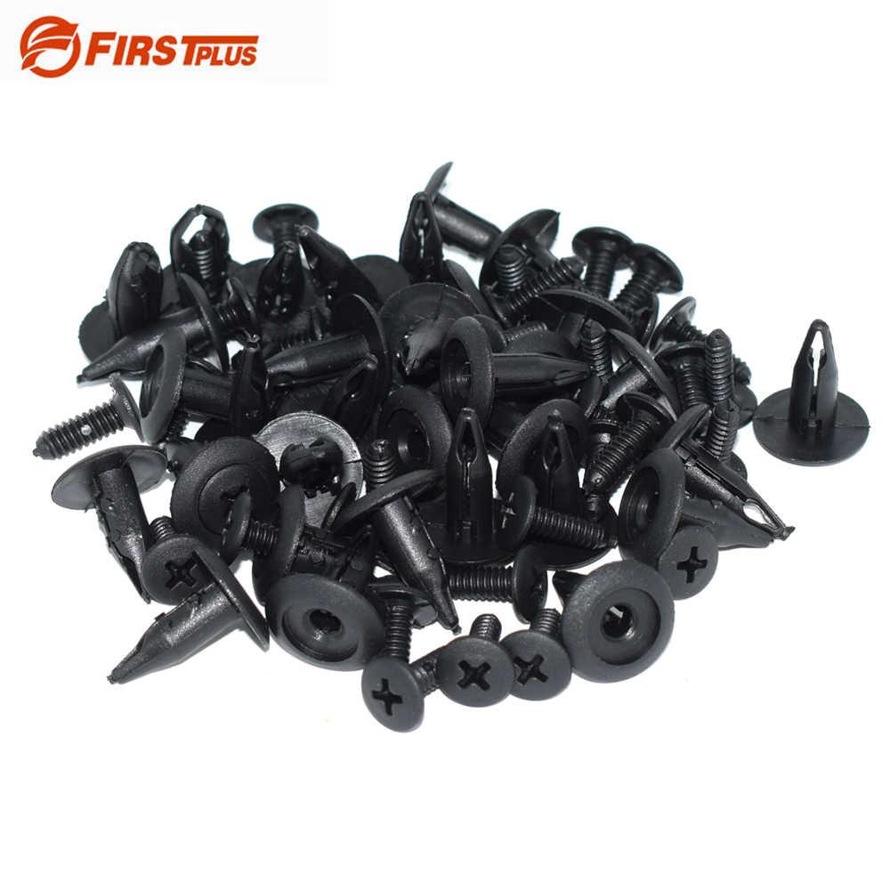 Clip per viti del coperchio del motore 10 set kit di clip per la copertura del sottoscocca clip per perno di rivestimento della protezione del motore dellauto in metallo 8D0805121