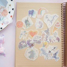 38pcs cloud heart Unicorn Design Sticker As Gift Tag Decoration Scrapbooking DIY Sticker Wedding Birthday Party Gift Seal