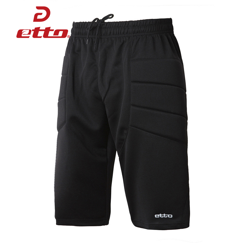 Etto 2018 New Professional Men Soccer Football Goalkeeper Shorts Uniform Futbol Training Tracksuit Sports Short Trousers HUC016