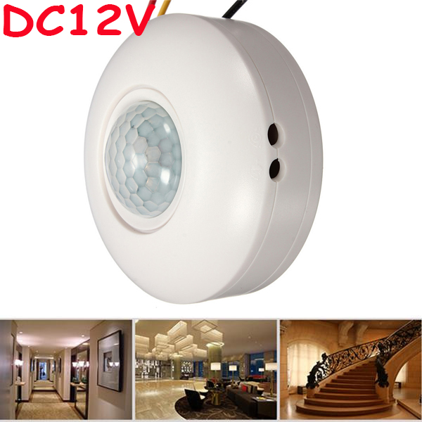 Ceiling Mounted Motion Sensor Lights: High Sensitivity 12VDC Ceiling Mounted PIR Motion Sensor