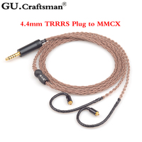 6n occ медь MMCX HA fw001 fw10000 se846 w40 w80 w60 4,4 mmBalanec Solaris Андромеда ATLAS xelento AK T8iE кабель наушников