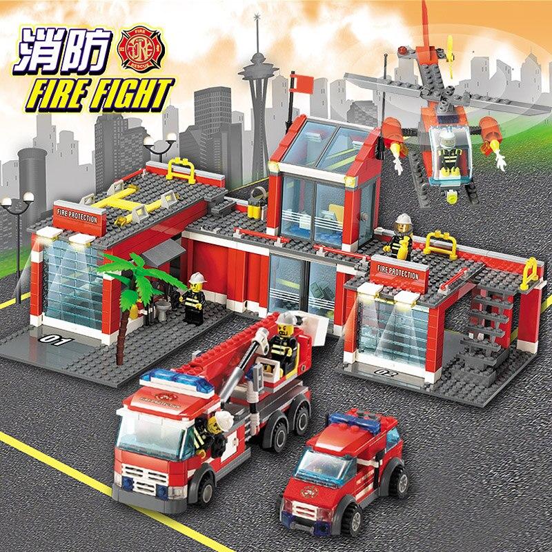 N-baby 774pcs  DIY Fire Truck Set Series Doll Building Brick Blocks Mini type blocks Toy Gift Building Blocks Set child toy  набор бит практика diy 22 шт с отверткой 774 559