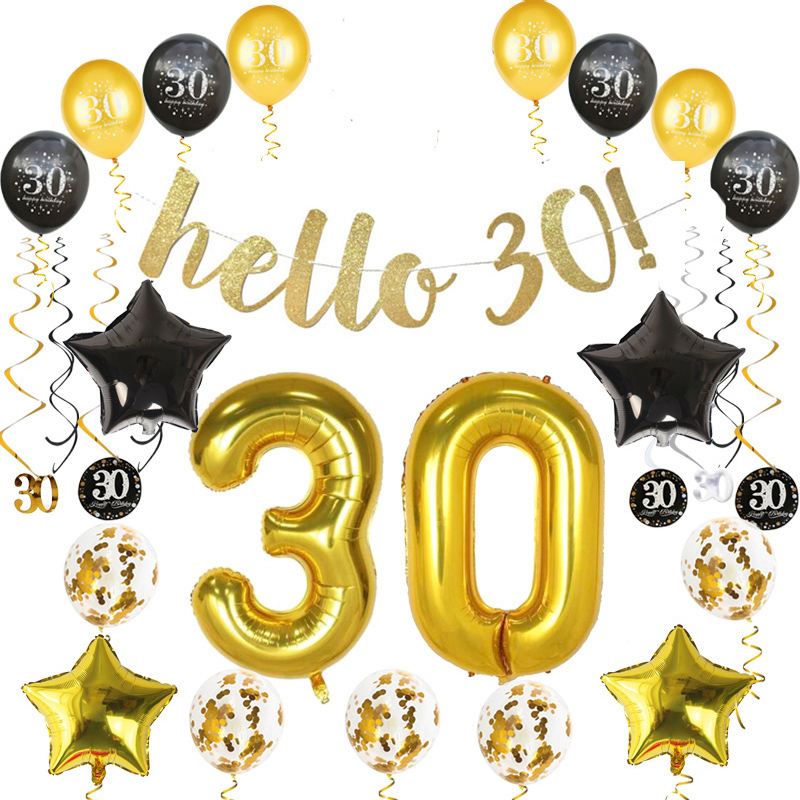 joy-enlife 10pcs Gold/Blcak latex balloons baby shower birthday party decoration balloon Childrens Day