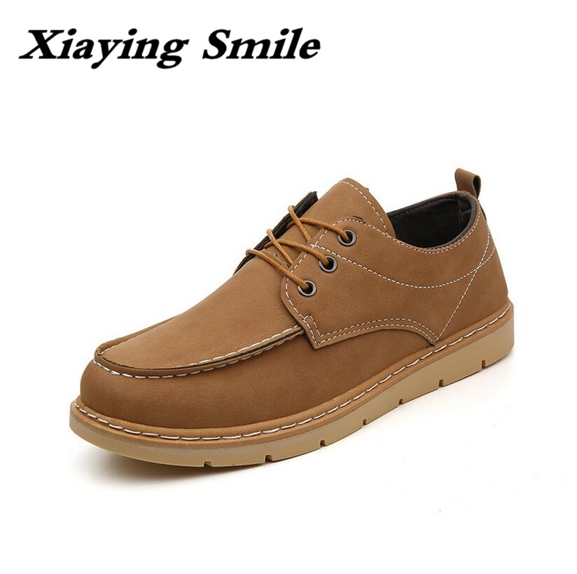 New Men's Fashion Leather Work Shoes Lace Up Casual Shoes Genuine Leather Male Student Skate Shoe Low Shoes Zapatos De Hombre fashion high top mens genuine leather work casual shoes lace up tenis flats footwear breathable male shoes punk zapatos hombre