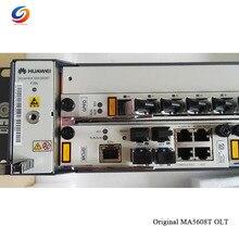 """Лучшая цена HW 1"""" дюймовый OLT GPON OLT MA5608T DC, 1* MPWC силовой Оптический Терминал, 1* MCUD 1G плата управления, GPFD карта"""