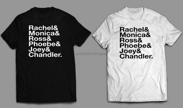 US $12 99 |Friends TV show T shirt or Iron on diy transfer Ross Rachel Joey  Chandler Monica-in T-Shirts from Men's Clothing on Aliexpress com |