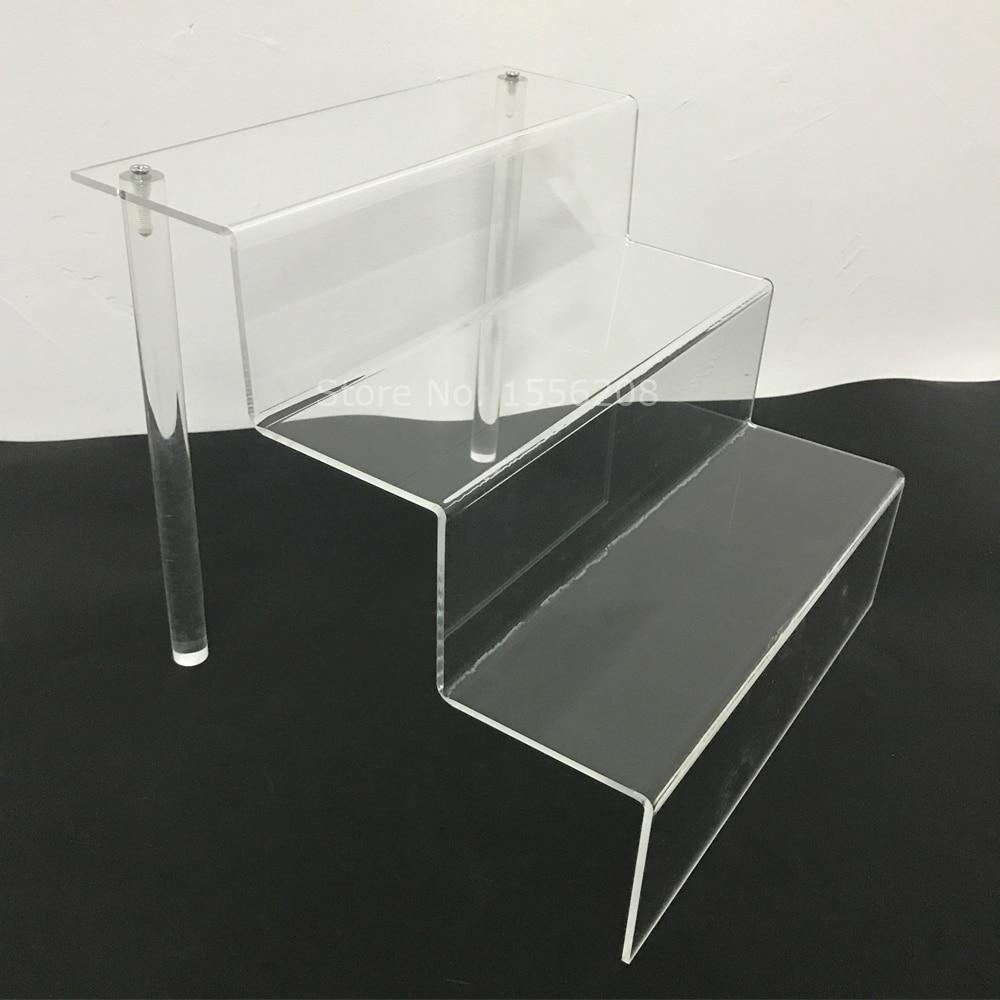 Étagère à Dessert en acrylique transparent   Support de Cupcake en plexiglas support de montage à 3 niveaux avec tige de plexiglas 75mm de profondeur, chaque niveau