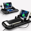 Автомобиль чейнджер стенд Магнит зарядки телефон владельца Авто Двойного разъем универсальный мобильный магнитное крепление Anti-slip организатор