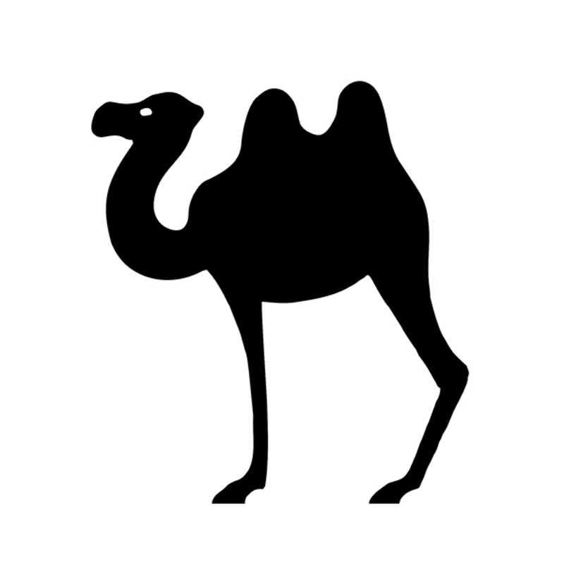 Komik deve siluet kalıp kesim etiket araba tampon vinil etiketler çıkartmaları dizüstü SUV kamyon araba tampon pencere 4X4 LAND ROVER