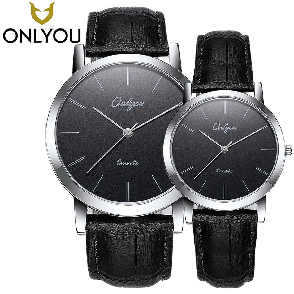 ONLYOU Men Sport Quartz Watch Simple Girls and Boys Women Black Brown Leather Watches Brand Casual Charm Clock relogio feminino onlyou men s watch women unique fashion leisure quartz watches band brown watch male clock ladies dress wristwatch black men