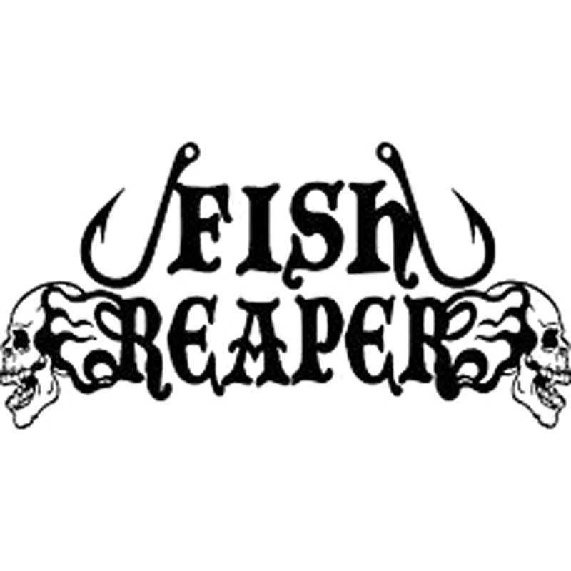 16cm 8 1cm fish reaper skull fishing hooks flame car boat for Fishing stickers and decals