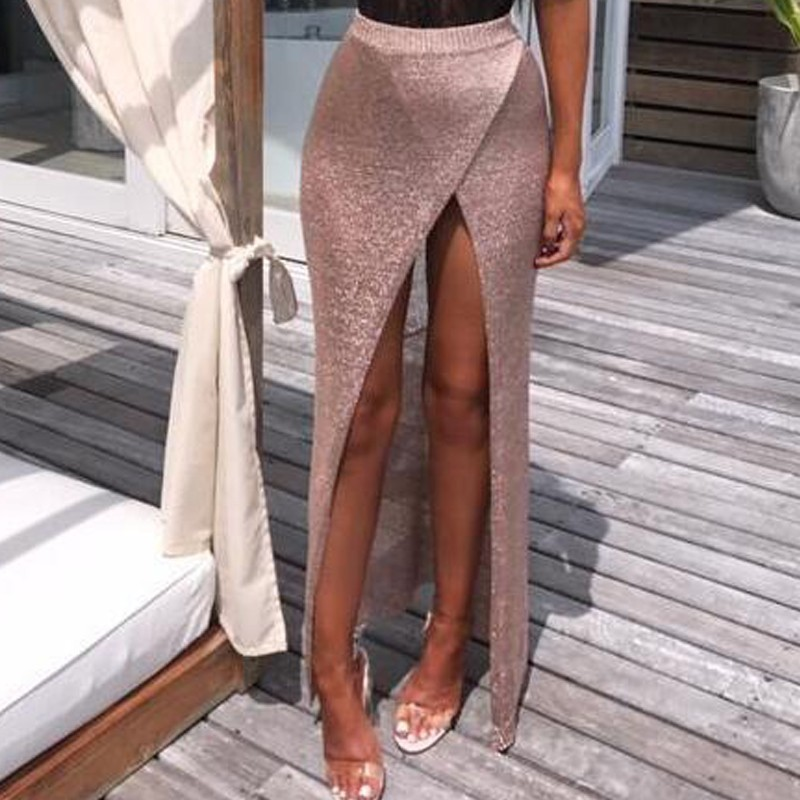 Fashion Tulle Skirt Women Casual Long Skirt 2018 New Summer Sexy High Waist Pencil Skirt ...