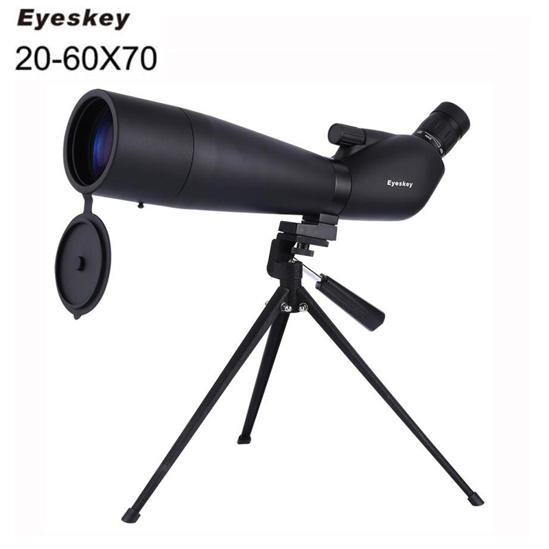 Eyeskey 20-60x70 Zoom Spotting Scope Monocular Telescope With Portable Tripod Monoculares Professional Bird Animal Telescope 10x zoom telescope lens with tripod