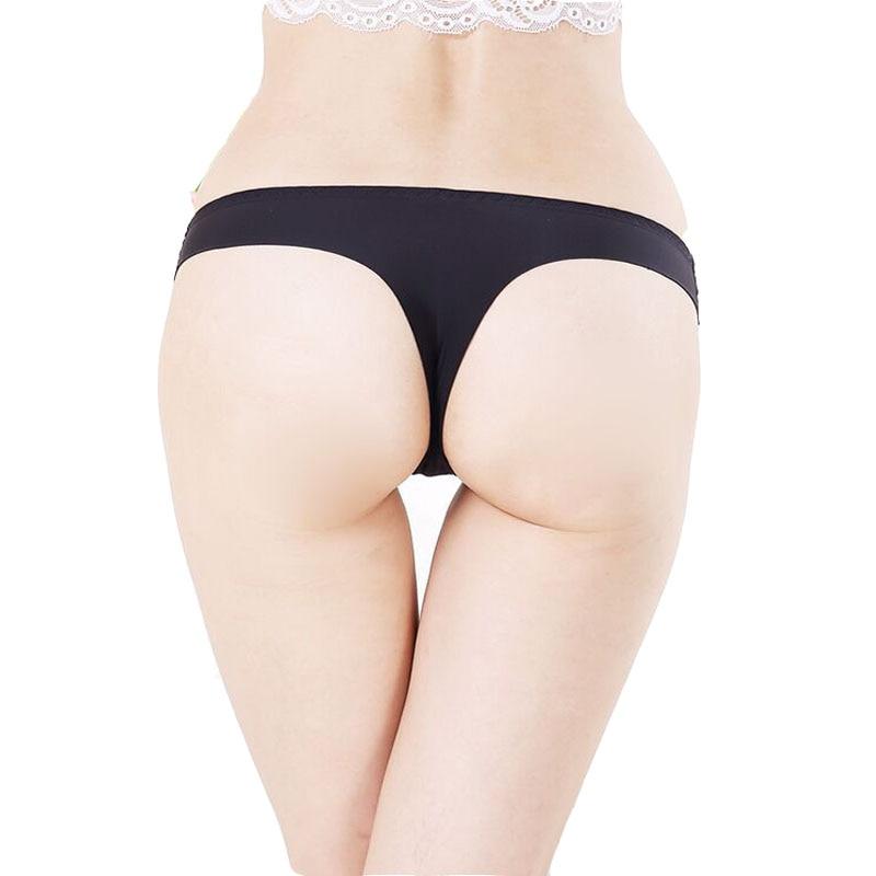 Plus Size S XXXL Underwear Women Panties Invisible Seamless Women T Pants  Crotch Thongs Tanga