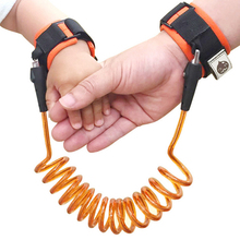 ФОТО 2.5m outdoor toddler baby kids safety harness child leash anti lost wrist link traction rope anti lost bracelet baby safety