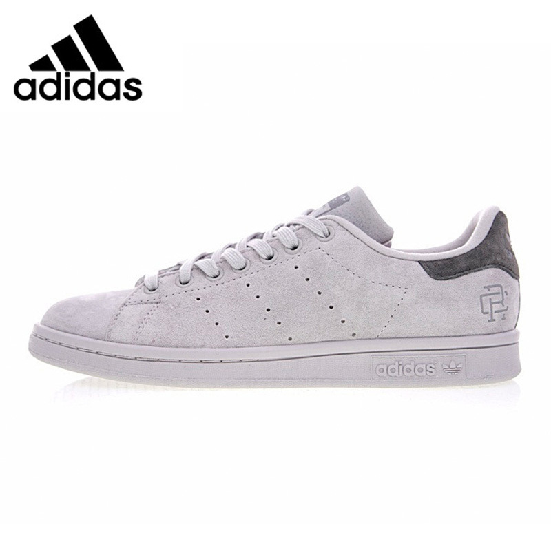Adidas Reigning Champ X Stan Smith Men Walking Shoes Light Gray Breathable Wearable Lightweight Sneakers Non-slip BS9559 adidas stan smith shamrock men s and women s walking shoes pink grey balance lightweight breathable s75075 s80024