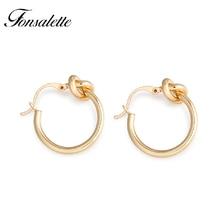цены Fashion Knot Hoop Earrings 925 Silver Post Knotted Jewelry 18k Gold Simple Love Women Earring Wholesale oorbellen ohrringe ZK30