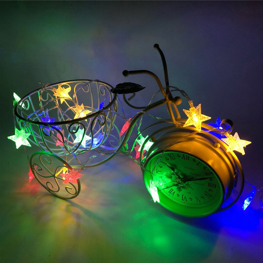 Lamp 4m 40 Led Crystal Clear Star Fairy String Light Wedding Party Outdoor Decor Christmas Decorations For Home Halloween