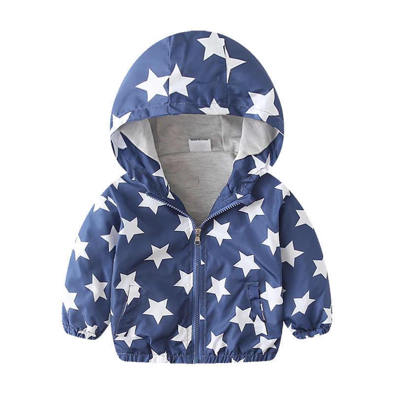 HSSCZL בנות מעילי 2019 אביב סתיו ילדים תינוק תינוק מעיל בגדי ילדים ילד דינוזאור קריקטורה מעיל windproof מעיל
