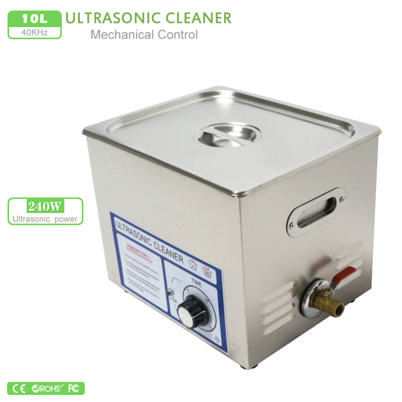 Ultrasound cleaner 10L 110V 220V 240W PS 40T Stainless Steel Timer Setting Bath Cleanning Jewelry pcb