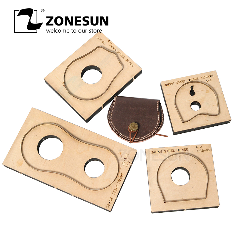 ZONESUN T033 Customized leather cutting die handicraft tool coin purse punch coin pouch cutter mold DIY paper laser knife die