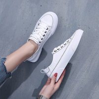 White Sneakers Women Casual Canvas Shoes Female Summer Lace Up Flat Trainers Fashion zapatillas mujer Vulcanize Shoes 2019