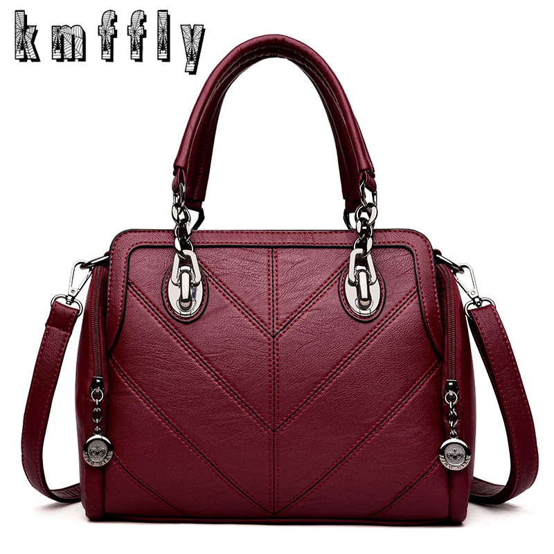 KMFFLY Winter Brand High Quality Luxury Handbags Women Leather Bags Designer Chain Shoulder Bags Top-handle Bag Sac A Main 2016 new hot luxury plaid women bags handbags high quality leather bags for women shoulder bag famous brand chain shell bag