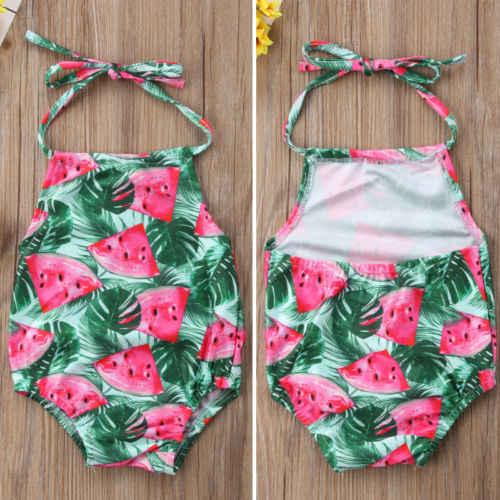 1935351715 Detail Feedback Questions about Summer Kids Baby Girl Watermelon Print  Bodysuit Toddler Halter Backless Swimwear Swimsuit Bathing Suit Children  Summer ...