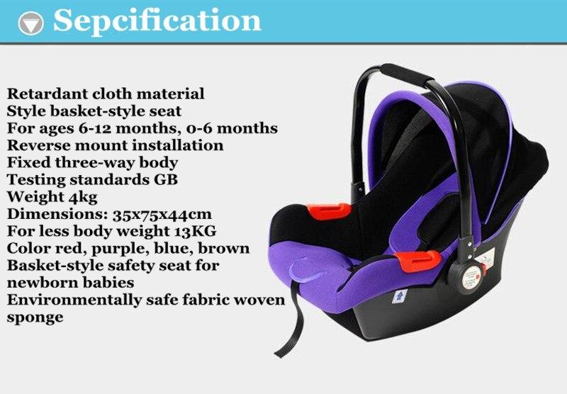 Neonatalna košarica auto-dječja dječja košara Dječja - Sigurnost za djecu - Foto 5