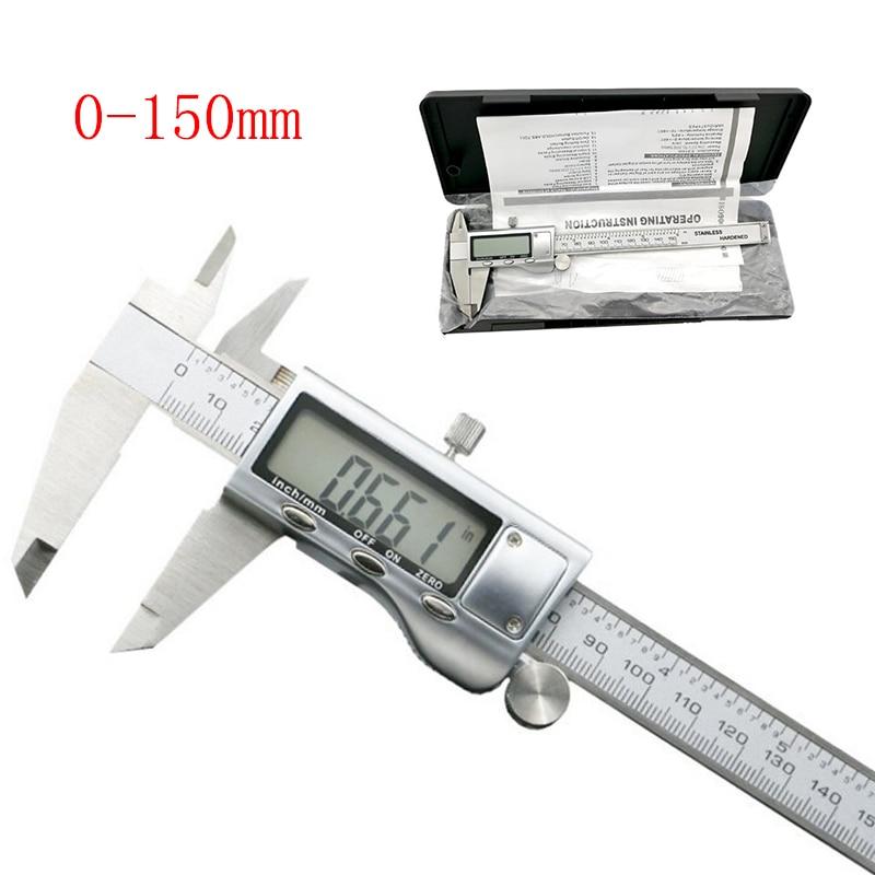0-150mm/6 Metal casing Digital CALIPER VERNIER caliper metal digital caliper GAUGE MICROMETER
