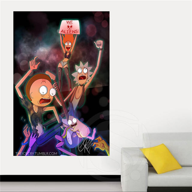 Rick and Morty Canvas Silk Poster for Home Decor Custom Print painting Art Picture SQ0630-HXL01