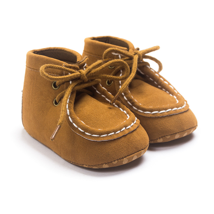 2018 Spring Autumn Fashion Baby Moccasin 0-1 Baby Shoes Infant Boys Soft Non-slip Toddler Shoes Indoor Prewalkers Unisex Boots