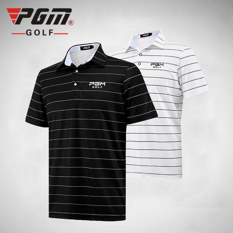 2018 New PGM Men Short POLO Shirt Summer Thin Clothes Summer Short Sleeve Striped Tshirt ropa de golf Tennis Breathable Dry Fit цена