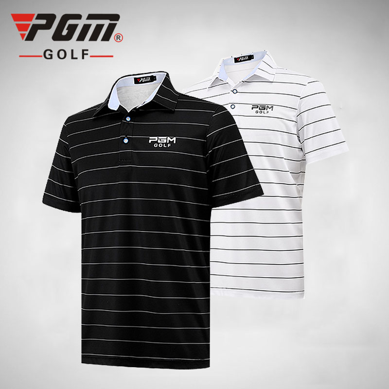 PGM Men New Tops Clothes Polo Shirt Ultra-thin Clothes Summer Short Sleeve Striped Tshirt ropa de golf Tennis Breathable Dry Fit everio summer golf t shirt short sleeve polo shirt quick dry breathable golf wear 5colors