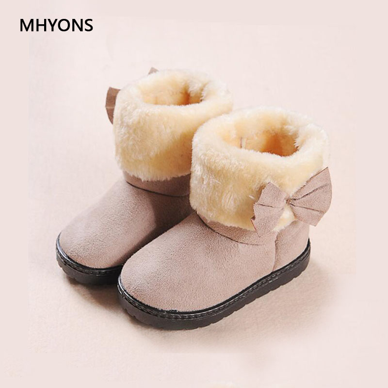 MHYONS Fashion Boots For Children Girls Shoes Winter Boots Kids Snow Boots Children Butt ...