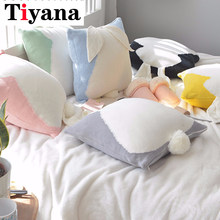 Nordic Three-Dimensional Cute Candy Rabbit Pillowcase Cotton Knit Pillow Sofa Decoration Ball Waist Mat Car Cushion BZ021-30(China)