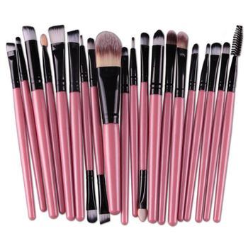 Happy Makeup 20Pcs Professional Makeup Brushes Eyeshadow Powder Foundation Eyes Eyebrow Lip Eyeliner Make up Brush Cosmetic Tool