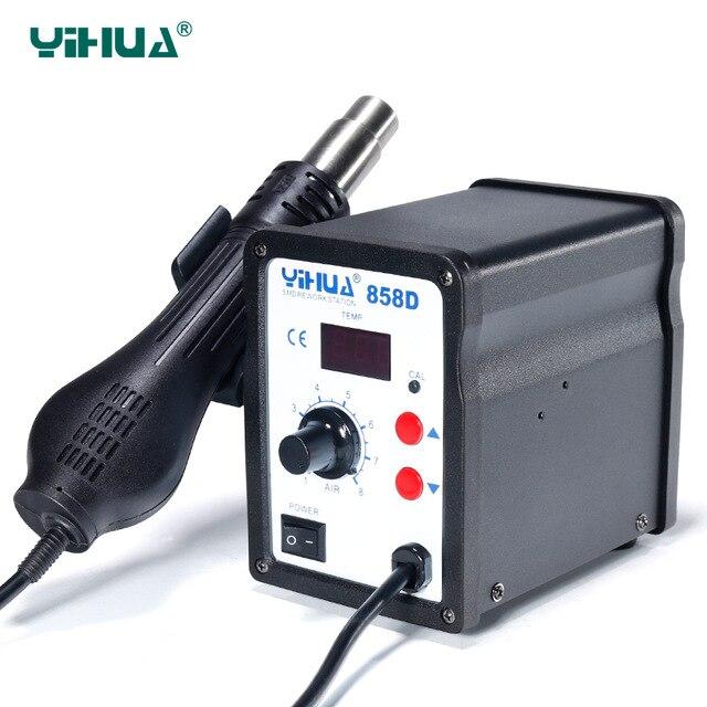 110V 220V YIHUA 858D Hot Air SMD Rework Station Heat Gun SMT Solder soldering iron Welding
