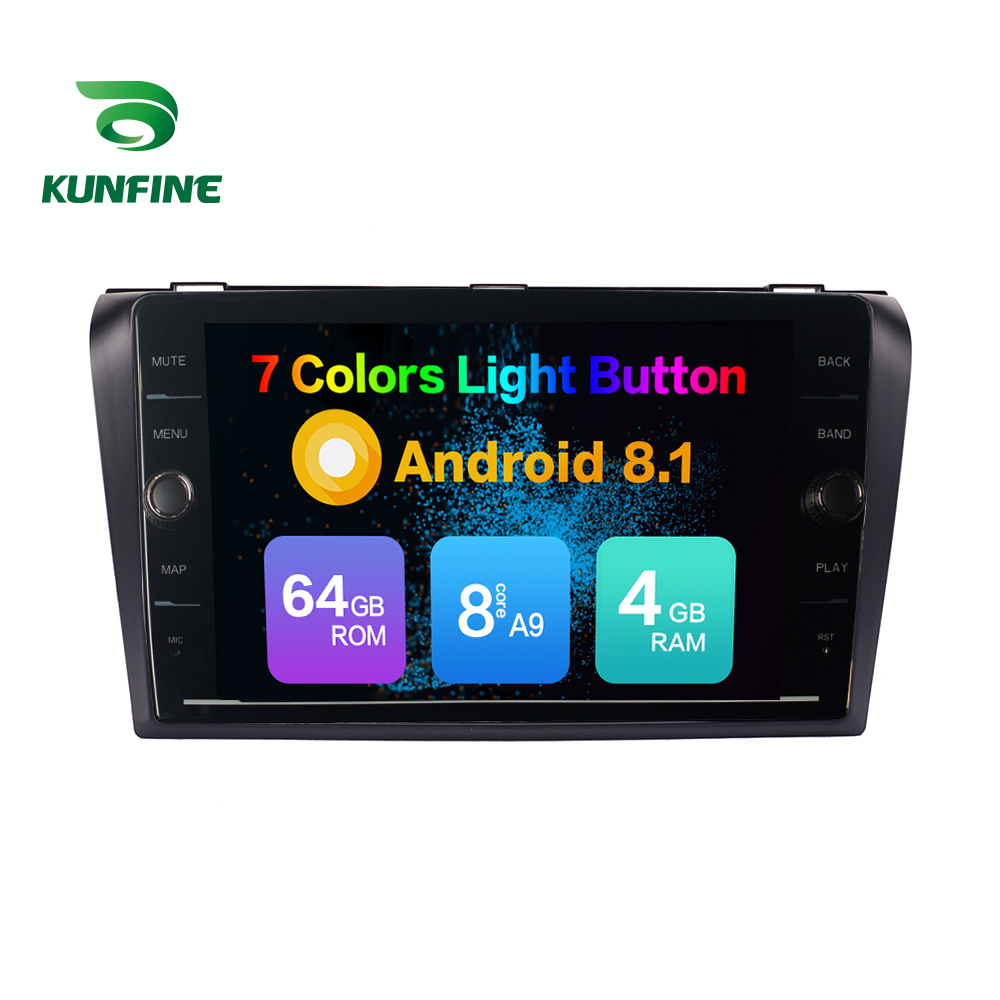 Octa Core ROM 64GB Android 8.1 Car DVD GPS Navigation Player Deckless Car Stereo For <font><b>Mazda</b></font> <font><b>3</b></font> <font><b>2006</b></font>-2013 <font><b>Radio</b></font> Headunit image