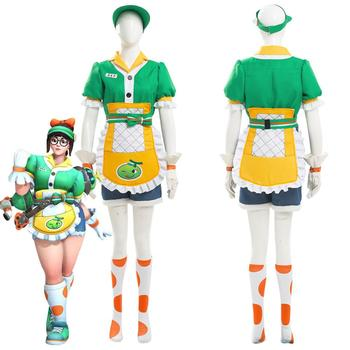 OW Mei Honeydew Skin Cosplay Costume Adult Unisex Full Sets Custom Made for Halloween Carnival Party Costumes image