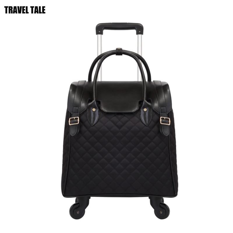 """Bagaj ve Çantalar'ten Tekerlekli Bagaj'de SEYAHAT MASALı 18 """"inç kadın küçük sevimli seyahat çantası kabin bagaj handbagage koffer arabası'da  Grup 1"""