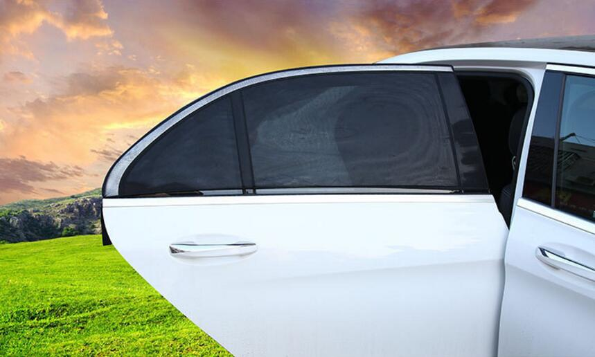 2Pcs Car Sun Shade UV Protection Car Curtain Car Window Sunshade Side Window Mesh Sun Visor Summer Protection Window Film New 5