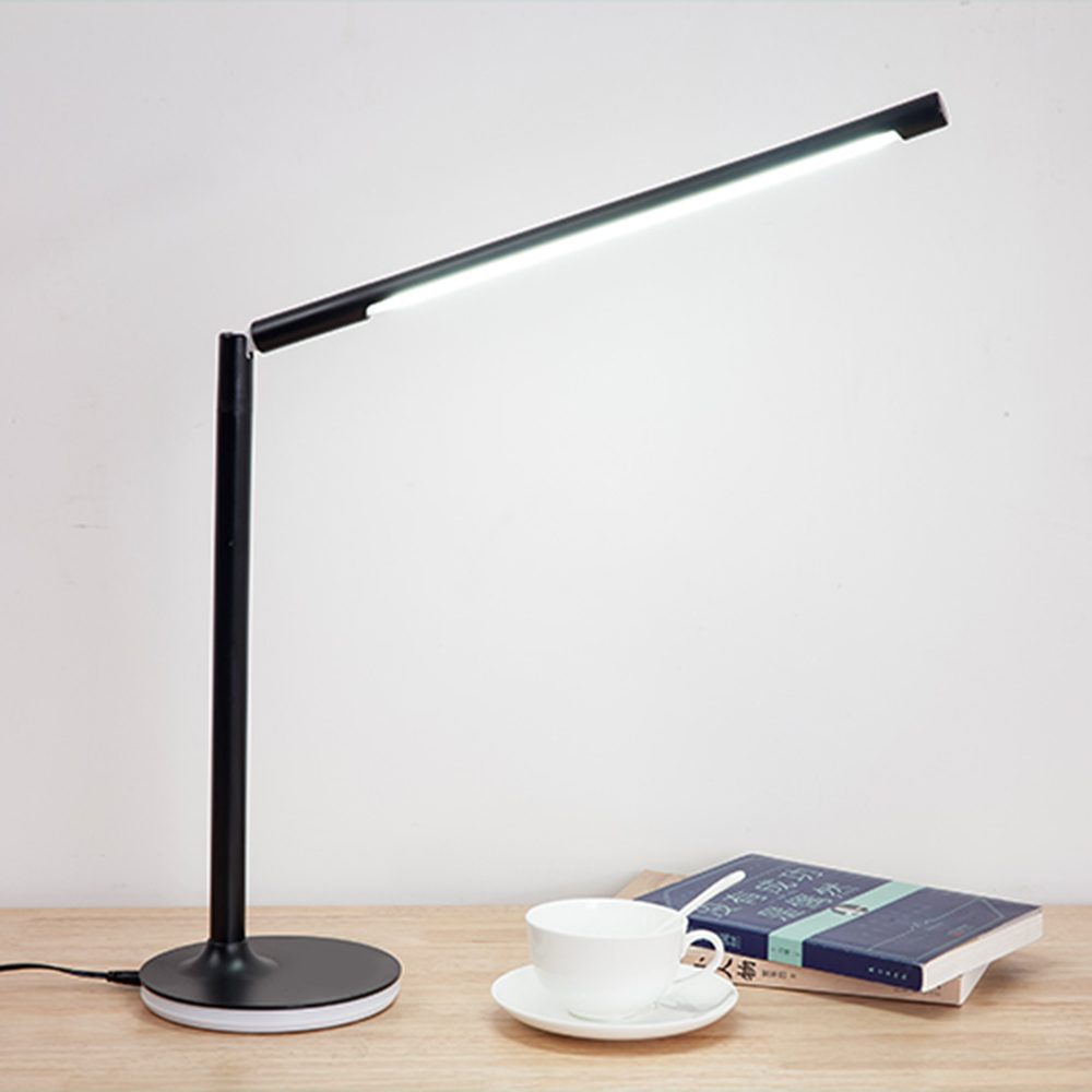 Removable LED Desk Lamp Flexible Office Read Table light USB Built-in Rechargeable Battery Dimmable 360 degree rotation Touch