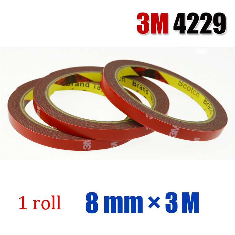 3M 4229 1 roll 8mm 3M Auto double sided acrylic adhesive foam tape