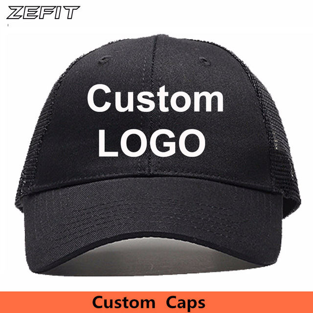 f8700c0a0ef14 Customized Trucker Hats With Mesh on the back Snapback Embroidery Printed  LOGO Ventilated Summer Style Custom Baseball Caps