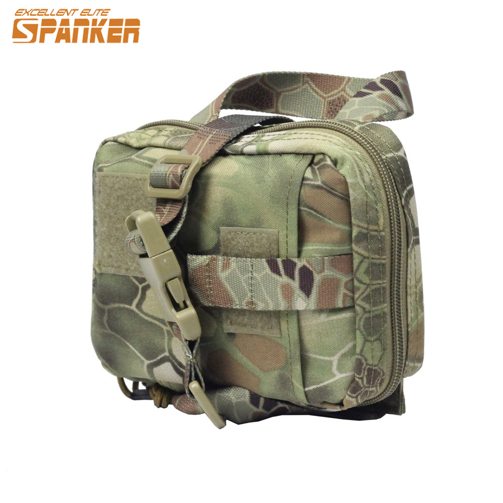 SPANKER Molle Tactical Military Medical Bag Magazine Tool Dump Drop Pouch For Hunting Hiking Pouch Cycling Riding Belt Bag