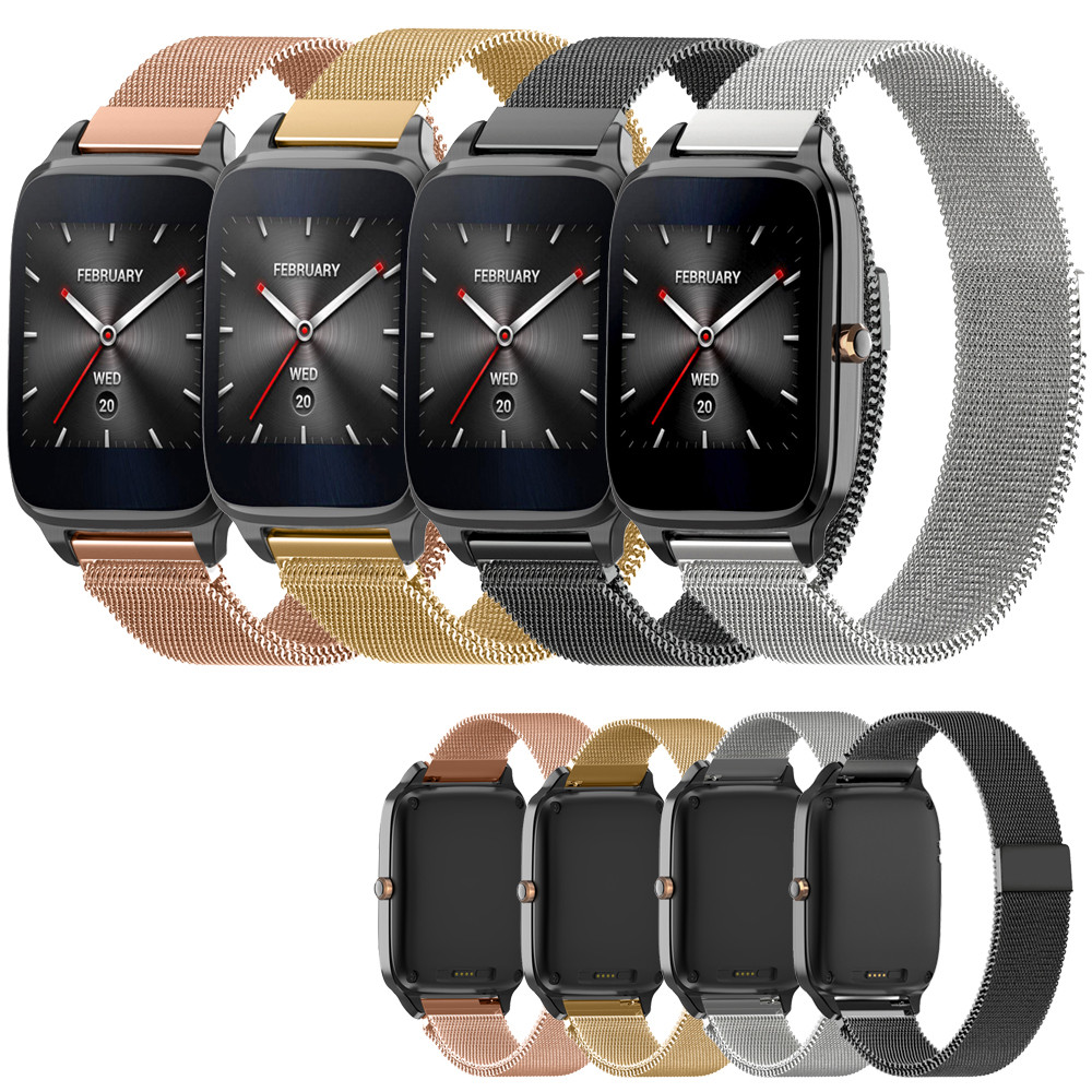 Fashion Watch 2018 22mm Replacement Milanese Magnetic Loop Stainless Steel Band Strap Bracelet For ASUS ZenWatch 2 Watchband crested milanese loop strap metal frame for fitbit blaze stainless steel watch band magnetic lock bracelet wristwatch bracelet