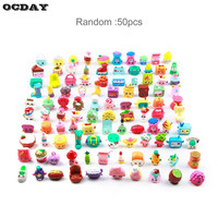 50 100pcs Shops Season Fruit Merchants Family Shopping Mixed Toy Doll For Kids Doll Play House