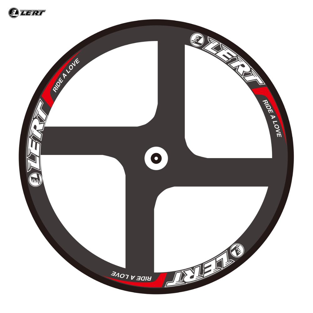цена на SALE! Newest LERT 4 spokes clincher rim 700C Road Track Fixed Gear bike 3K UD 12K full carbon fibre bicycle wheelsets Free ship